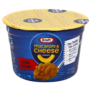 Kraft Nabisco Easy Entree Macaroni and Triple Cheese Cup - 2.05 Oz.
