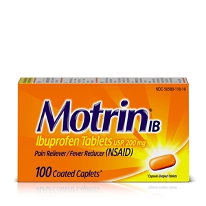 Motrin IB Pain Reliever Caplets 48 Boxes of 100 Tablets