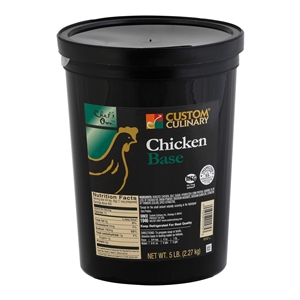 Custom Culinary Masters Touch Select Chicken Base No Msg Added - 5 Lb.