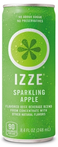 Izze Beverage Fortified Apple Can - 8.4 Oz.
