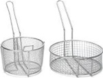 Tablecraft Stainless Steel Round Cooking Basket - 5 in.