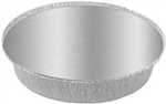 Aluminum Round Container with Lid - 8 in.