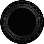 Black Round Serving Tray - 18 in.