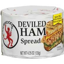 B and G Foods Underwood Deviled 4.25 oz. Ham Spread