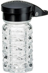 Salt and Pepper Shaker Glass Black Top - 1.5 Oz.
