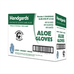 Handgards Large Synthetic Powder Free Aloe Glove Green