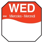 Day of the Week Labels Wednesday Octagon - 1 in. x 1 in.