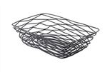 Tablecraft Metal Rectangle Basket Black - 9 in. x 6 in. x 2 in.