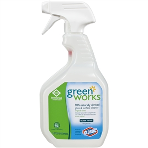 Clorox Commercial Solutions Green Works Glass Cleaner Spray - 32 Oz.