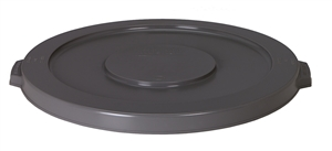 Continental Plastic Huskee Lid Gray - 10 Gal.