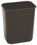 Continental Plastic Wastebasket Receptacle Black - 28 Qt.