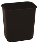 Continental Plastic Wastebasket Rectangular Black