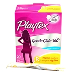 Gentle Glide Plastic Unscented Regular Tampon