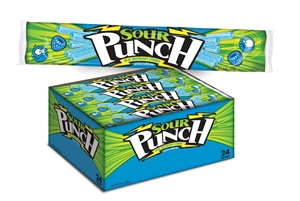 American Licorice Sour Punch Straws Blue Raspberry Candy