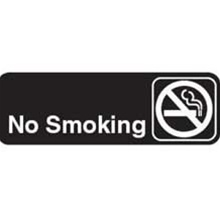 Traex White Imprint No Smoking Sign