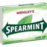 Wrigleys Spearmint Single Serve Gum 15 Piece