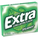 Wrigleys Extra Single Serve Spearmint Gum 15 Piece
