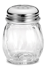 Cheese Shaker Swirled Glass Perforated Top - 6 Oz.
