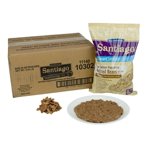 Santiago Smart Servings Low Fat Vegetarian Refried Beans - 26.25 Oz.