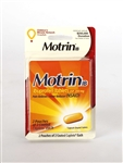 Convenience Valet Motrin Blue Caplets 144 Boxes of 4 Tablets and Paper Cup