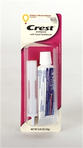 Crest Toothpaste and Travel Toothbrush Combo - 0.85 oz.
