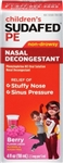 Childrens Sudafed Pe Nasal Decongestion - 4 Fl. Oz.
