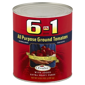 6 In 1 All Purpose Puree Ground Tomatoes - 105 Oz. Can