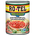ROTEL Mexican Lime And Cilantro Diced Tomatoes - 10 Oz.