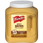Frenchs Plastic Jug Bold N Spicy Mustard Brown - 105 Oz.