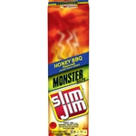 Slim Jim Honey Bbq Flavor Monster Smoked Meat Stick - 1.94 oz.