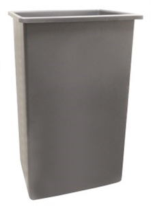 Continental Wall Hugger Container Gray - 23 Gal.