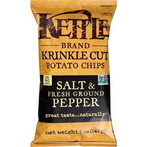Kettle Krinkle Cut Salt and Ground Pepper Potato Chip - 5 Oz.