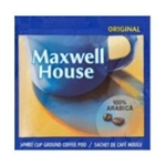 Coffee Maxwell House 100 Percentage Arabica Single Cup Ground Pod Regular