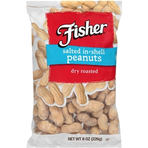 Fisher Salted In Shell Peanuts - 8 Oz.