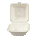 Atlantic Mills Sugarcane Hinged Lid 6 in. Container