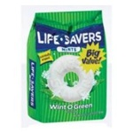 Wrigleys Life Savers Wint O Green Candy Gusset Bag - 41 Oz.