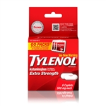Tylenol Extra Strength Go Pack Clear Plastic 72 Boxes of 6 Tablets