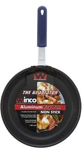 Winco Aluminum Non Stick with Red Silicone Sleeve Fry Pan - 14 in.