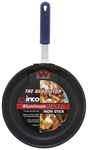 Winco Aluminum Non Stick Excalibur Fry Pan with Red Silicone Sleeve - 8 in.