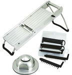 Winco  Mandoline Slicer Set With Stainless Steel Hand Guard