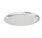 Winco Stainless Steel Sizzling Oval Platter - 11 in.