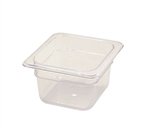 Winco Poly Pan One Sixth Size - 4 in.