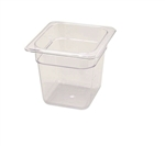 Winco Poly Pan One Sixth Size - 6 in.