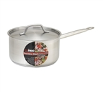 Winco Stainless Steel Sauce Pan With Cover - 7.88 in. x 5.5 in.