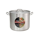 Winco Stainless Steel Stock Pot 20 Qt. With Cover - 11.88 in.x 10.25 in.