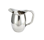 Winco Stainless Steel Deluxe Bell Pitcher With Ice Catcher - 2 Qt.