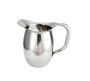 Winco Stainless Steel Deluxe Bell Pitcher With Ice Catcher - 3 Qt.