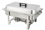 Winco 8 Qt. Chafer with Polished Cover and Hold Device