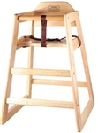 Winco Non-Assembled Natural Stacking Hi-Chair