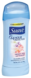 Suave Sweet Pea and Violet Invisible Solid Deodorant - 2.6 Oz.